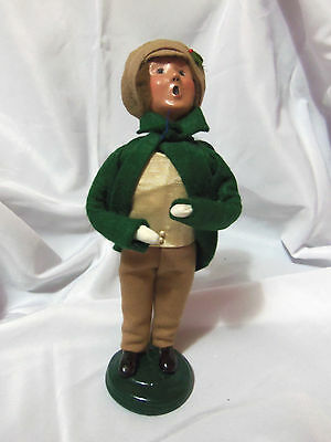 1999 Byers Choice Caroler Child Green Jacket Limited Edition #44/100