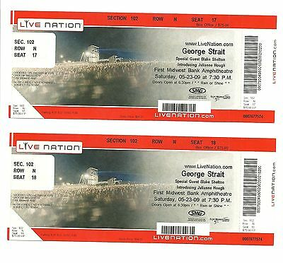 George Strait Unused Concert Tickets From 2009