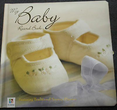 New My BABY RECORD BOOK - A fill in Keepsake memory Book - nursery rhymes