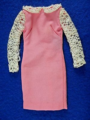 Vintage Francie Doll #1257 Pink DANCE PARTY Dress Only 1967 VGC