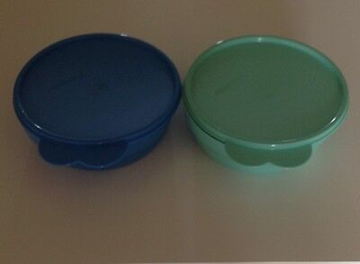 Tupperware Everyday Bowls Children's Kids With Seals Brand New Blue And Aqua Boy