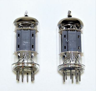 2) - ECC83 / 12AX7 TELEFUNKEN - Ribbed Plate tubes - Matched