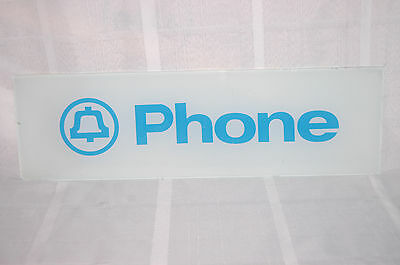 Vintage Glass Bell Telephone Phone Booth Sign