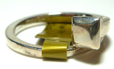 3542a1723 Gucci Italy Chiodo Spike Nail Coil Wrap Bypass Sterling Silver Ring Band  Ret$235