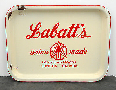 HTF 1950's Labatt's London, ON Porcelain Canadian Beer Advertising Serving Tray