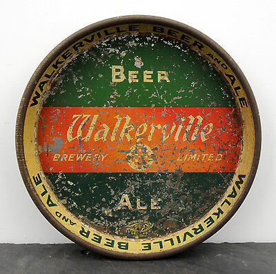 RARE 1940's Walkerville Brewery Canadian Beer & Ale Advertising Serving Tray