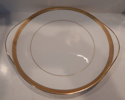 """Royal Doulton """"royal Gold""""  Handled Cake Plate Made England H4980 Excellent"""