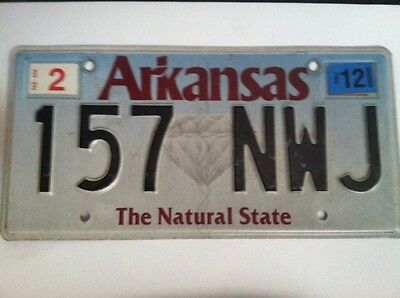 Vintage 2012 Arkansas expired license plate tag (  157 NWJ  ) NATURAL STATE