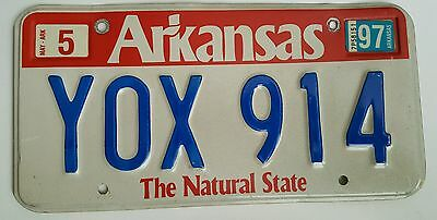 1997 Arkansas expired license plate tag ( Y0X 914 ) The Natural State