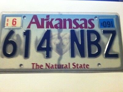Vintage 2009 Arkansas expired license plate tag (  614 NBZ  ) NATURAL STATE