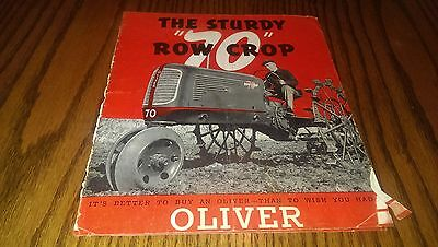Antique 1940 Oliver Sturdy 70 Row Crop Tractor Brochure Farm Advertising Sales