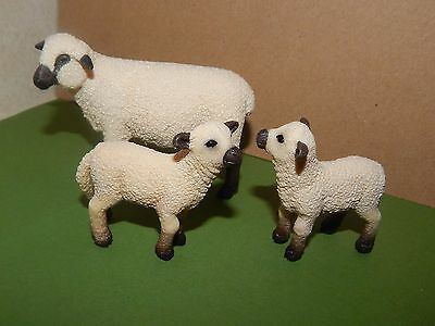 2011 Retired Schleich Shropshire Sheep Family #13681~13682 Excellent Cond.