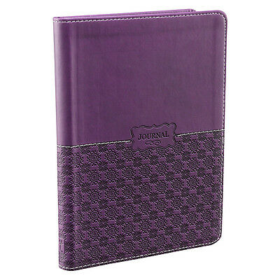 """Classic Purple LuxLeather """"I Believe in Miracles""""Journal  by Christian Art Gifts"""