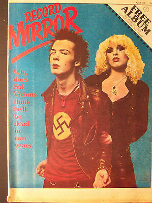 Record Mirror Sex Pistols Sid Vicious 1978 The Clash 999 Rory Gallagher Japan