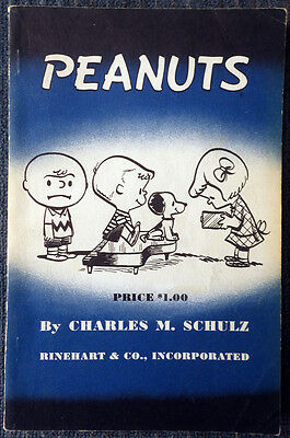 Peanuts #1 - Rinehart 1952 - First collection of strips! - Charles M Schulz
