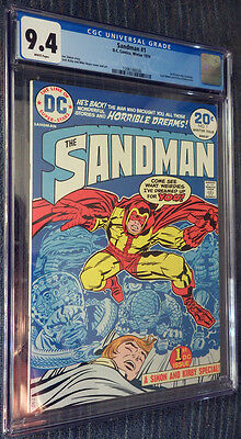 Sandman #1 CGC 9.4 White Pages - 1st appearance new Sandman - Jack Kirby!