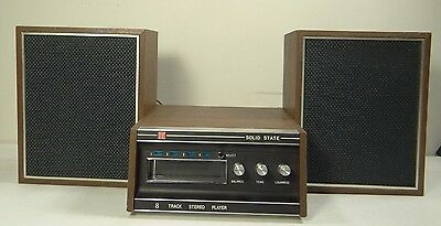 Apf Electronics 8 Track Stereo Player ~Solid State Model 601 + Duo-Cone Speakers