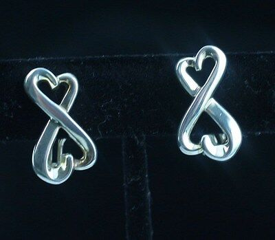 Tiffany & Co. Sterling Silver Paloma Picasso Double Loving Heart Earrings