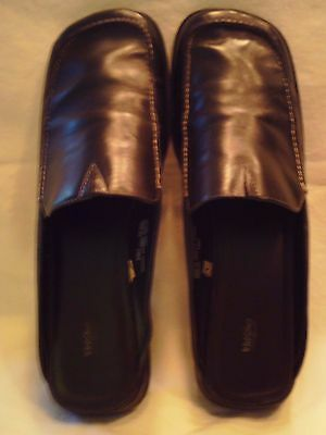 MOSSIMO – Women's Black Leather Mules/Slides Shoes – Size 10M
