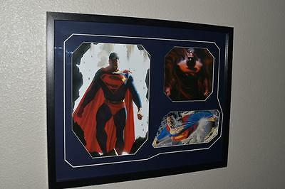 Framed ultimate Superman by Alex Ross art collector special justice league