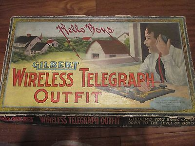 1920 A.C. Gilbert Wireless Telegraph Outfit  VERY RARE Antique Wireless