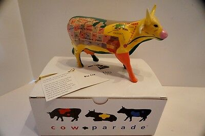 Cow Parade Figurine-MAP COW #9162, 2000, Mint with Box and Tag