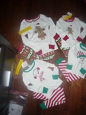 Gymboree 2 Pc Christmas Pajamas Gymmies Gingerbread Man Snowman Nwt