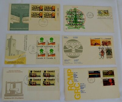 Canada - 6 x First Day Covers - 1970 to 1975