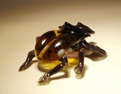 Blown Glass Figurine  Art Insect Brown Bug