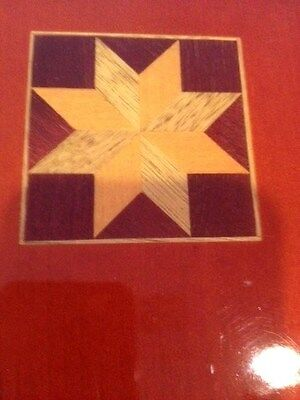Album Cover And Back Wood Inlaid Wood 8 Sided Star On Front Cover