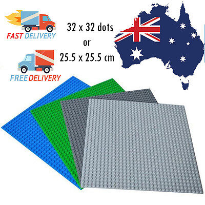 Base Plate Building Blocks 32x32 dots ,25.5x25.5 cms: 4 Colors Lego Compatible