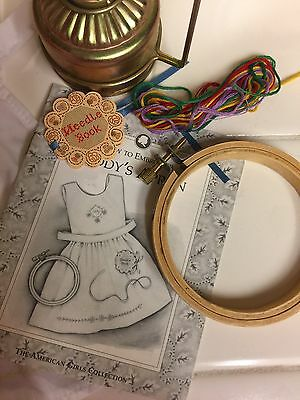 Pleasant Company American Girl ADDY Apron, Needlework Kit and Lamp 1993/1994