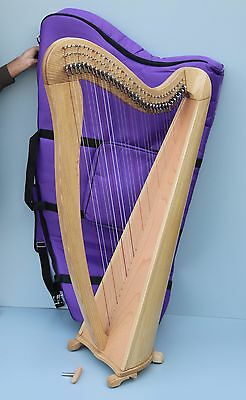Mikel Aster 34 Strings Lever Harp, Fully Levered & Carry Bag, VAT Free Delivery
