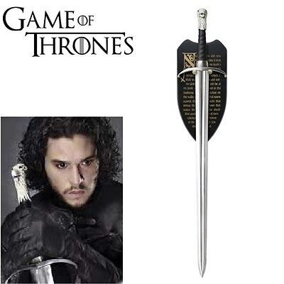 GAME OF THRONES - LONGCLAW (HBO), THE SWORD OF JON SNOW with FREE WALL PLAQUE
