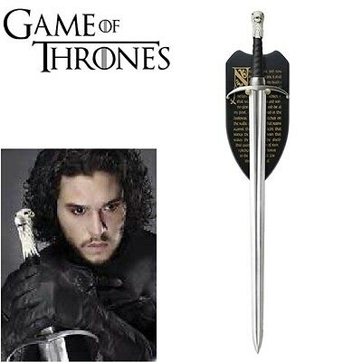 GAME OF THRONES LONGCLAW (HBO)THE SWORD OF JON SNOW w/WALL PLAQUE - PRE ORDER