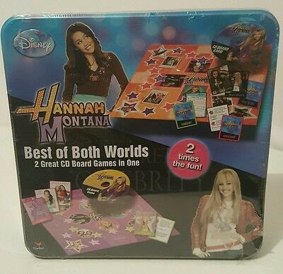 Disney HANNAH MONTANA Best of Both Worlds 2 CD Board Games NEW
