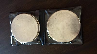 Strahan Silverware coasters x 4 made in Australia in original packaging engraved