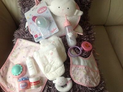 Baby Annabell Dolls Sheep Changing Bag And Accessories - Zapf Creations