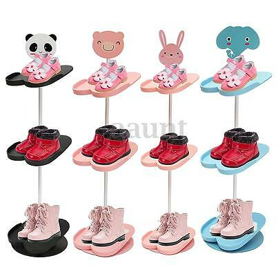 4 Tiers Removable Shoes Rack Stand Space Saving Organizer Children Shelf Holder