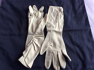 Vintage Cream Evening Gloves