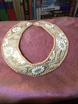 Vintage Style, Beaded Collar. One Size