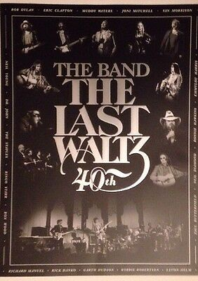THE BAND THE LAST WALTZ 40th Anniversary POSTER Record Store Day 2016 RSD Rare