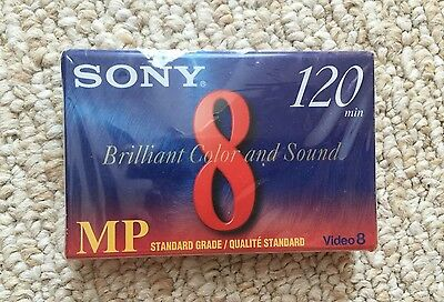 NEW Genuine Sony (P6-120MP) 1 Video 8 Tape 120min 8mm Camcorder Video Tape