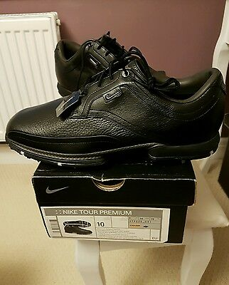 Nike Tour Premium Golf Shoes - Black Size 9