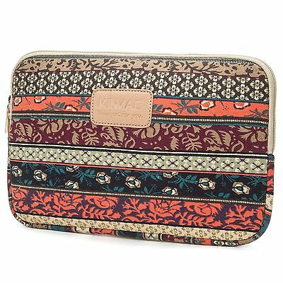Canvas Waterproof Laptop Sleeve Case Bag for Macbook Air 13 Inch Notebook Case