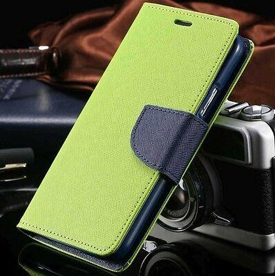 Luxury Mercury Magnetic Lime Green Flip Case Cover For Galaxy S6 {pY16