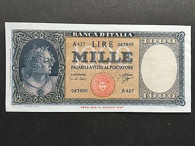 Italy 1000 Lire P88d Signed Carli Ripa Dated 25th September 1961 EF+