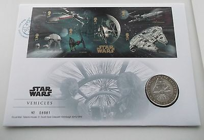 Star Wars Vehicles Stamps Coin FDC Royal Mail / Royal Mint Commemorative Set