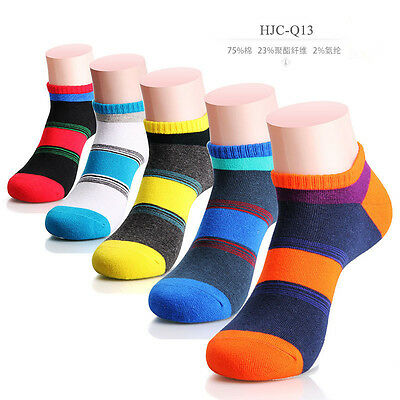 New 1 Pairs Men's Cotton Socks Low Cut Ankle Sports Casual Socks Color Random