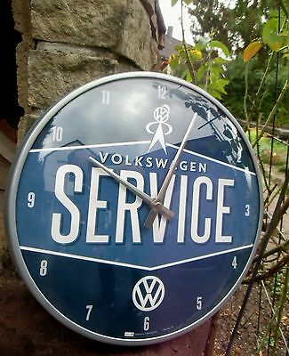 German Volkswagen Classic - VW SERVICE -Bus Beetle - WALL CLOCK Licensed NEW
